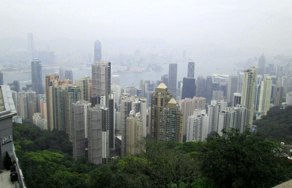 Hutan beton di Pulau Hongkong
