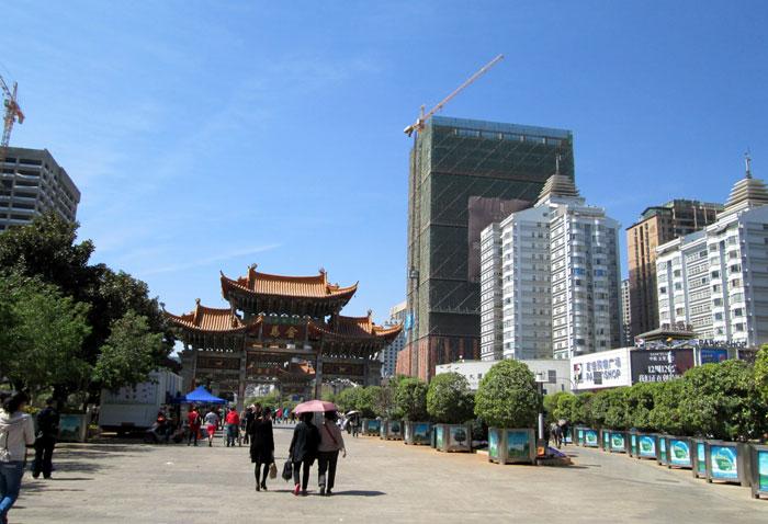 Pusat Kota Kunming.