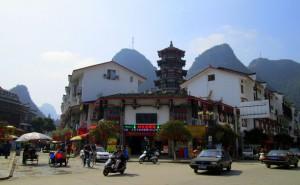 Suasana Kota Yangshuo.