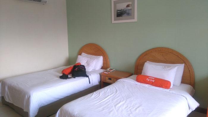 Salah satu kamar di lantai 5 Harris Resort.