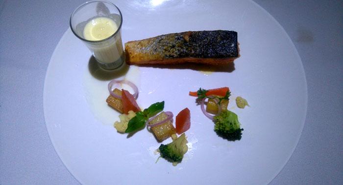 Atlantic crispy salmon.