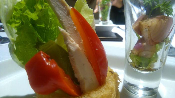 Carabian chicken salad.