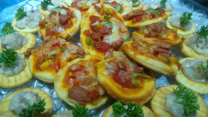 Mini pizza.
