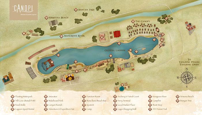 Peta Treasure Bay (sumber foto The Canopy)